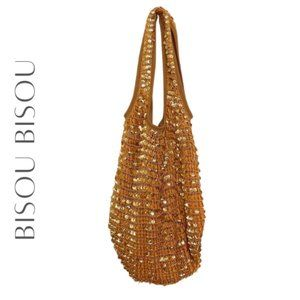 BISOU BISOU Gold Sequin Hobo Bag